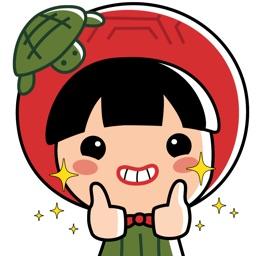 Ang Ku Kueh Girl Stickers