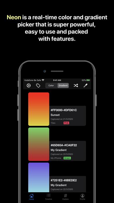 Neon review screenshots