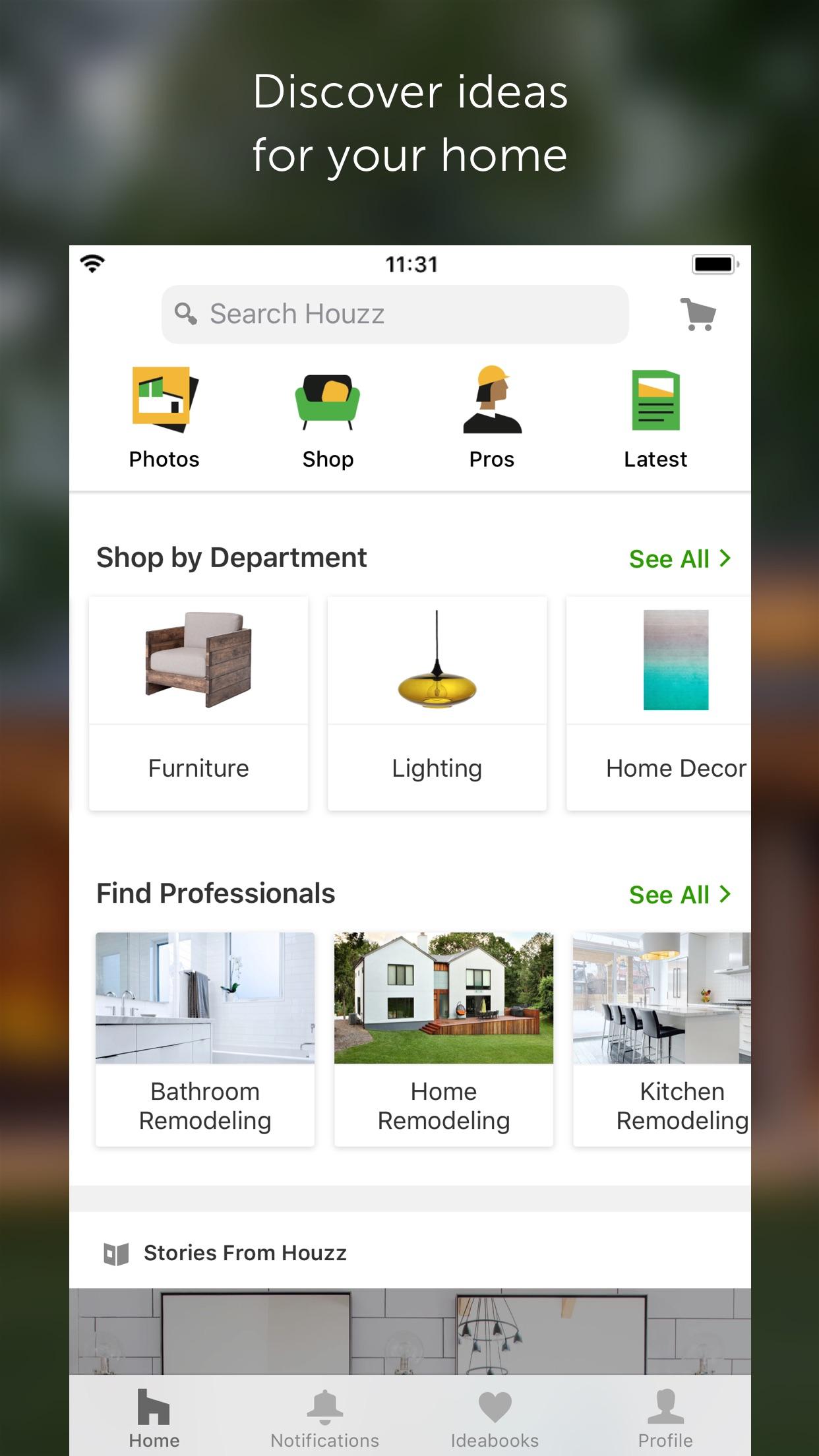 Screenshot do app Houzz - Home Design & Remodel