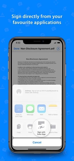 E-signature app - Zoho Sign on the App Store