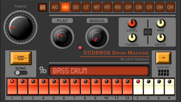 EGDR808 Drum Machine lite