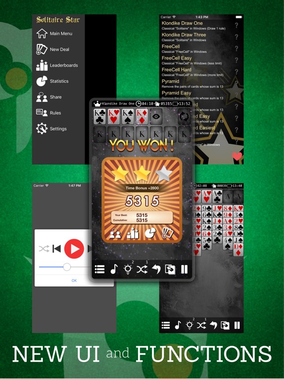 Solitaire * screenshot