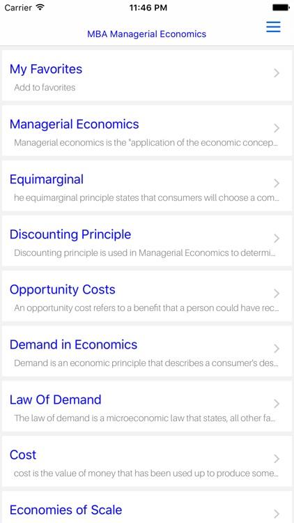 MBA Managerial Economic screenshot-4