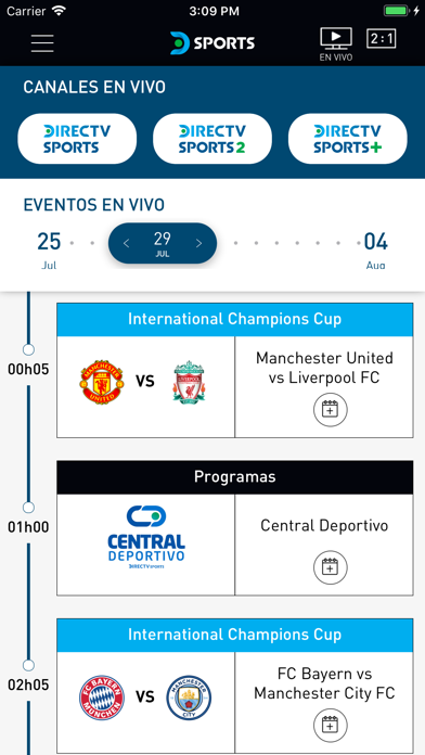 Screenshot for DIRECTV Sports in Colombia App Store