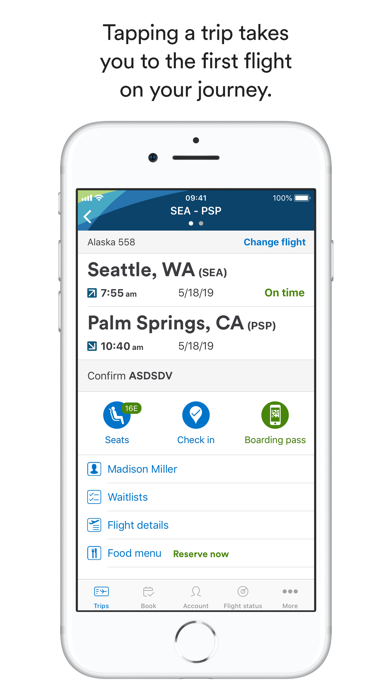 Alaska Airlines review screenshots
