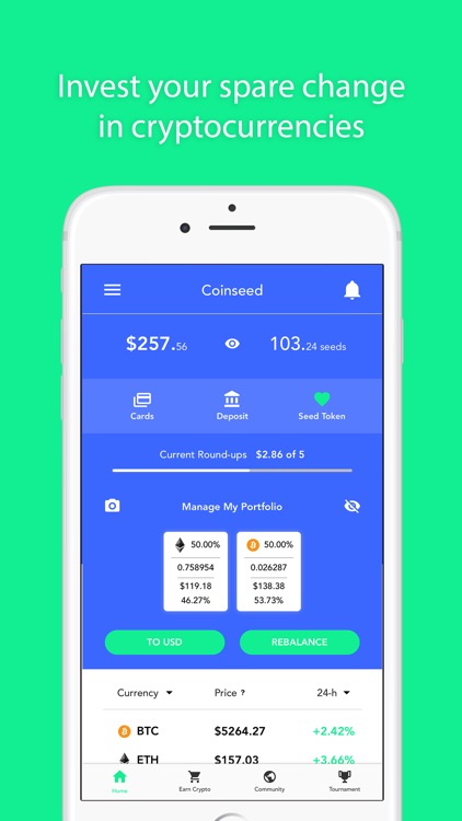 Coinseed - Earn, Invest Crypto
