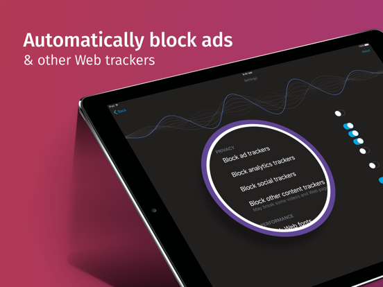 Focus by Firefox - content blocking screenshot