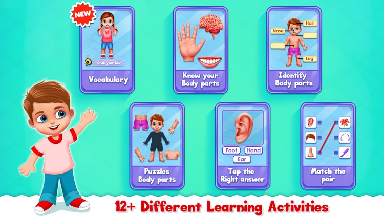 Human Body Parts Play to Learn