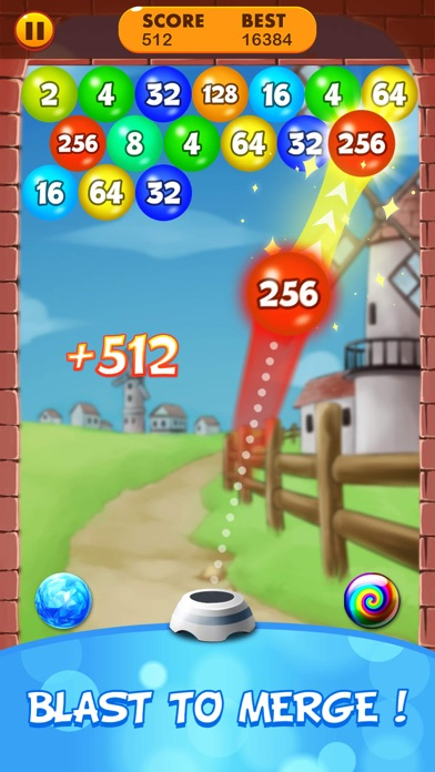 2048 Balls: Merge Magic Bubble screenshot #2