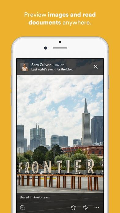 Slack Screenshot on iOS