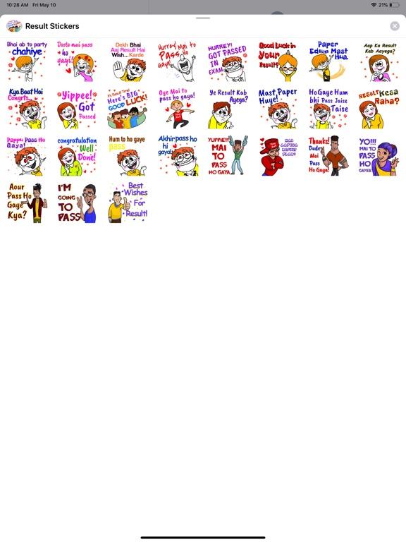 Result Stickers screenshot 4