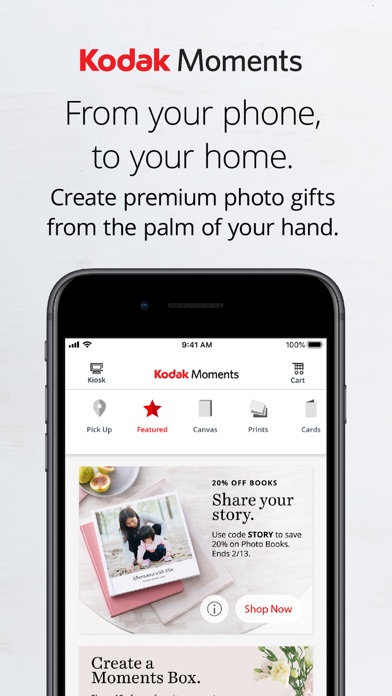 Kodak Moments Screenshot on iOS