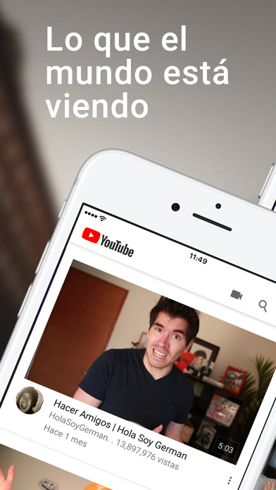 Screenshot for YouTube in Argentina App Store