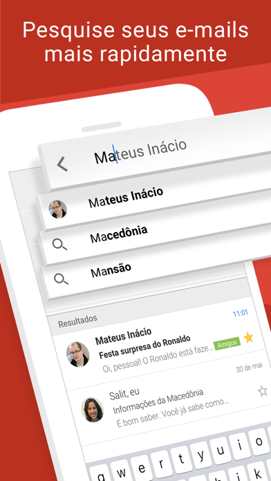 Screenshot for Gmail: Email do Google in Brazil App Store