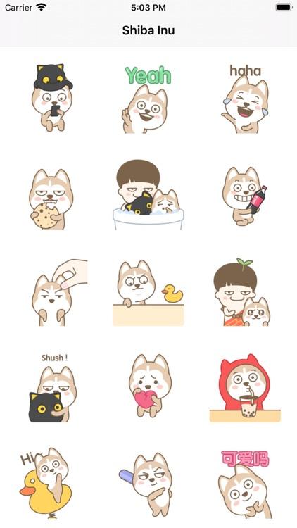 Stickers for Shiba Inu