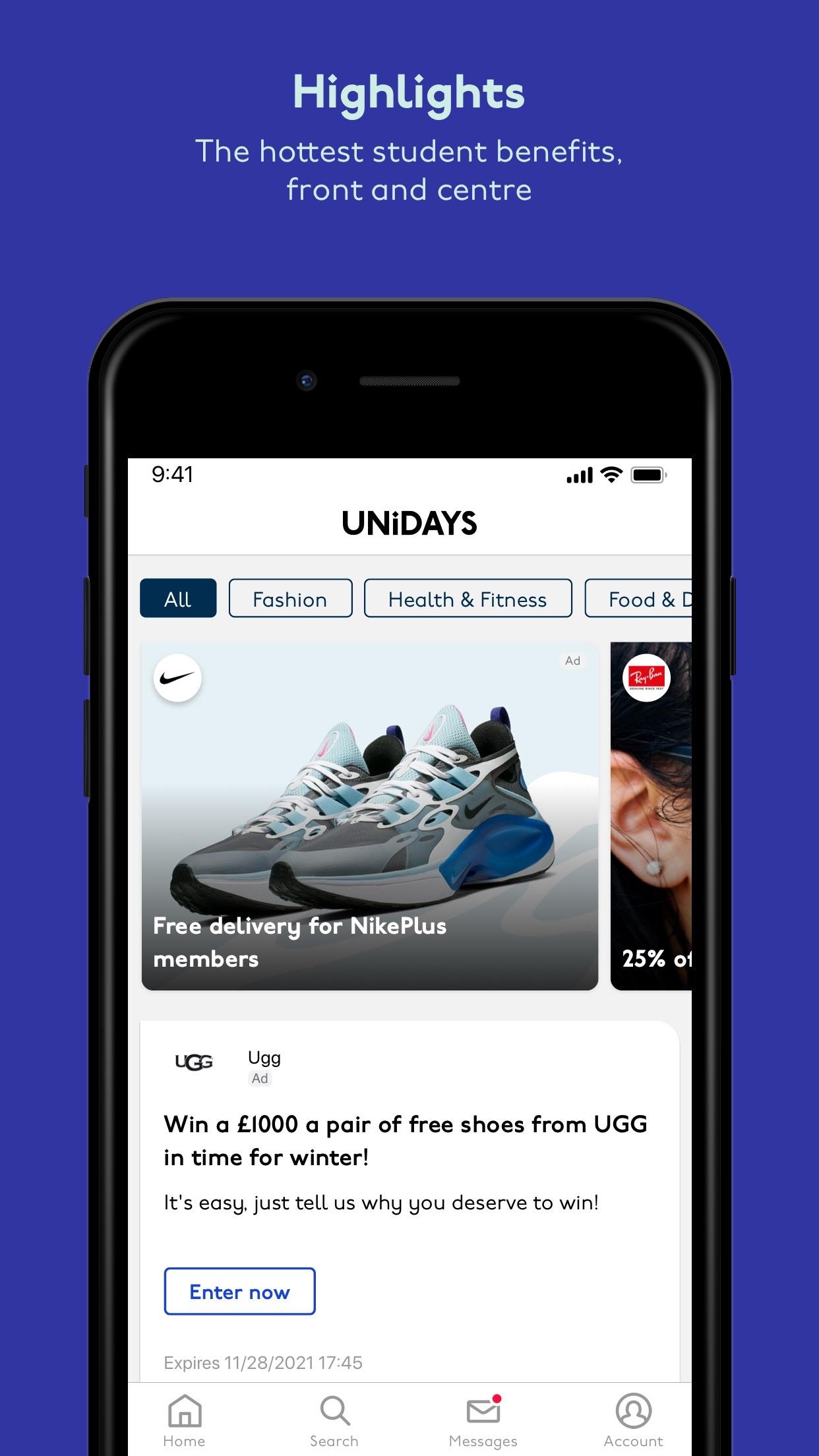 UNiDAYS: Student Discounts Screenshot