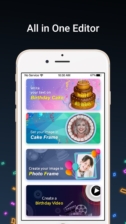 Bday Video Maker, Wishes,Cards screenshot-3