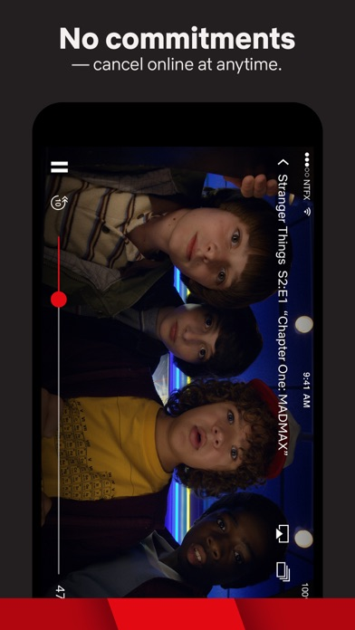 Screenshot of Netflix App