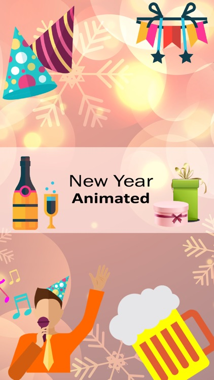 New year Animated Sticker 2020