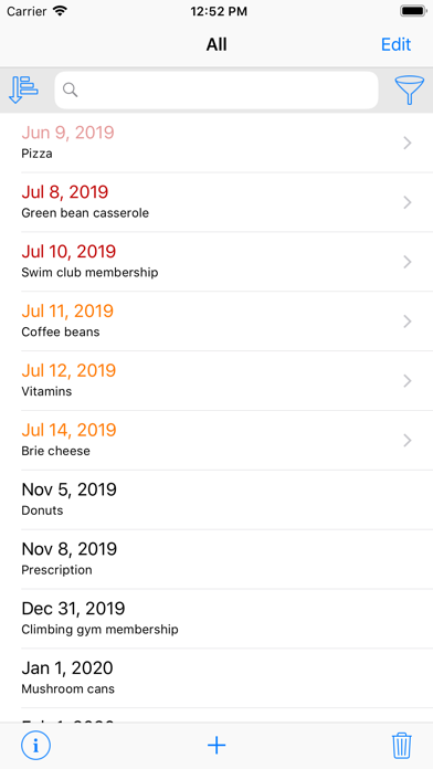 Use By Date screenshot one