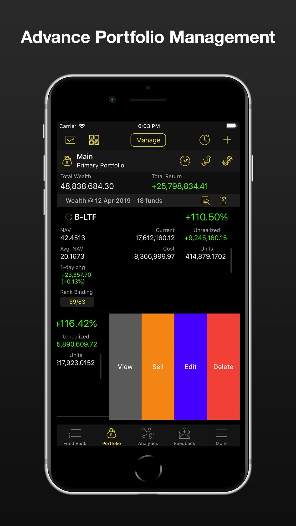 FIN - App กองทุนรวม MutualFund Screenshot