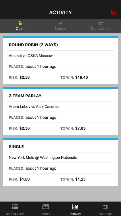 Bodog Bet Tracker screenshot-3