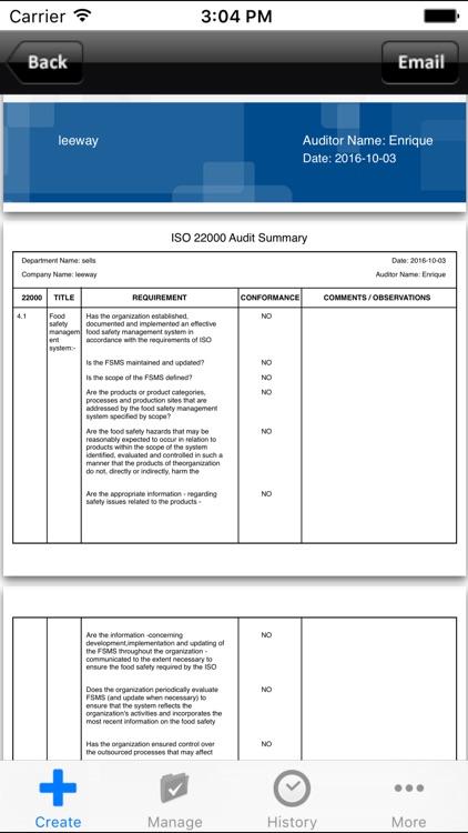 ISO 22000 Food Safety Audit screenshot-4