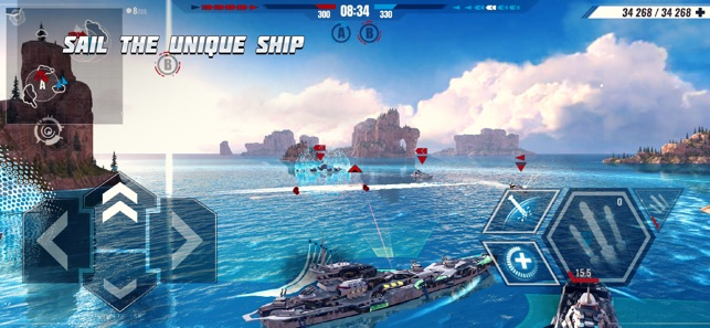 Mod Game Pacific Warships: War Shooter for iOS