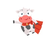Activities of Cow Stickers
