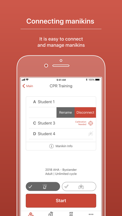CPR add-on kit Instructor screenshot two