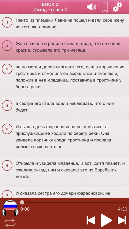 Russian Bible Audio mp3 Pro screenshot-3