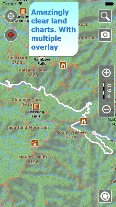 Terra Map - GPS Hiking maps Screenshot