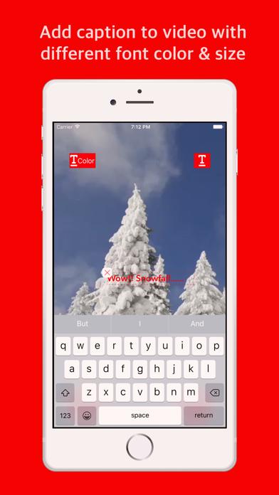 Reverse video - Add caption screenshot two