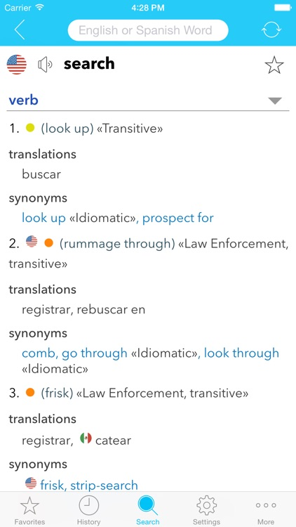 English Spanish Dictionary C. screenshot-0