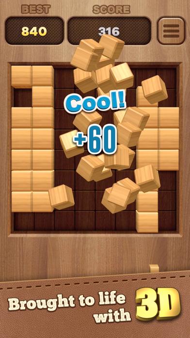 Woody Cube 3D Block Puzzle - 窓用