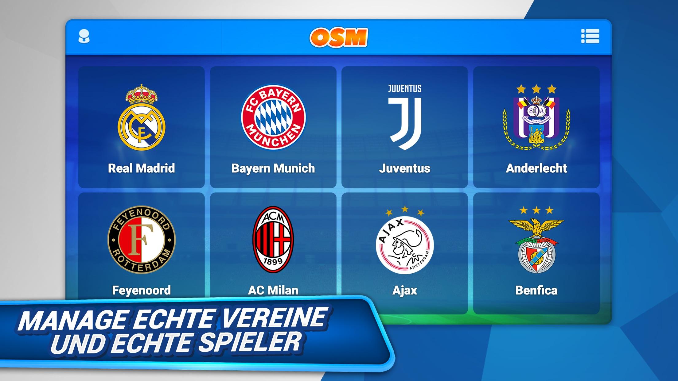 Online Soccer Manager (OSM) Screenshot