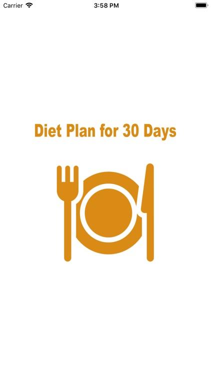 Diet Plan for 30 Days
