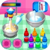 Cooking colorful cupcakes game