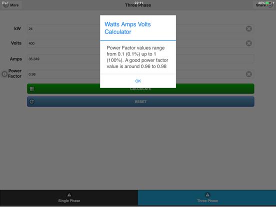 Watts Amps Volts  Calculator-ipad-4