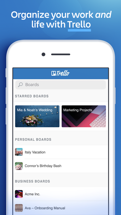 Trello: organize anything! Screenshot on iOS