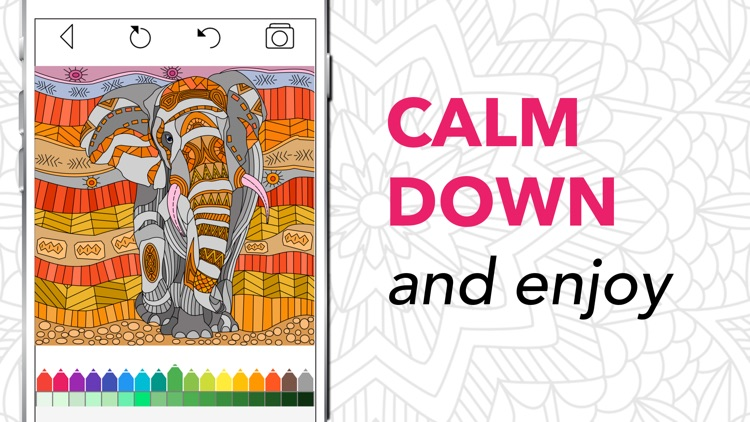 Coloring Book for Adults + screenshot-4