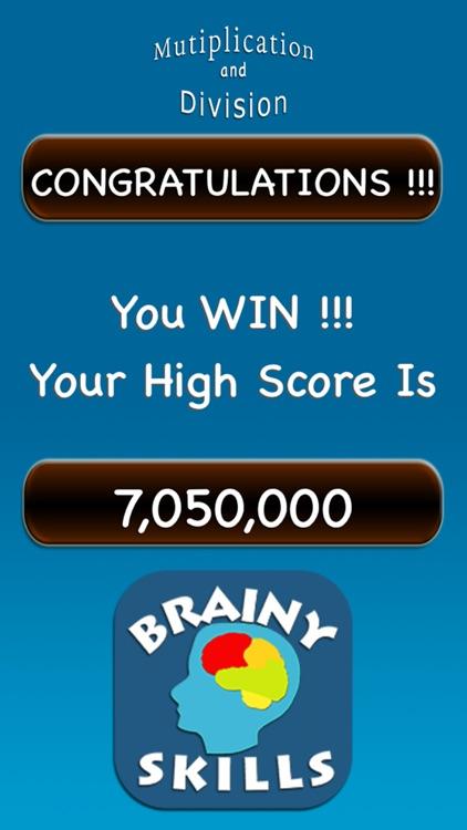Brainy Skills Multiply Divide screenshot-9