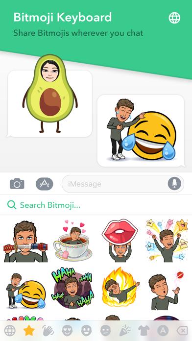 Bitmoji Screenshot on iOS