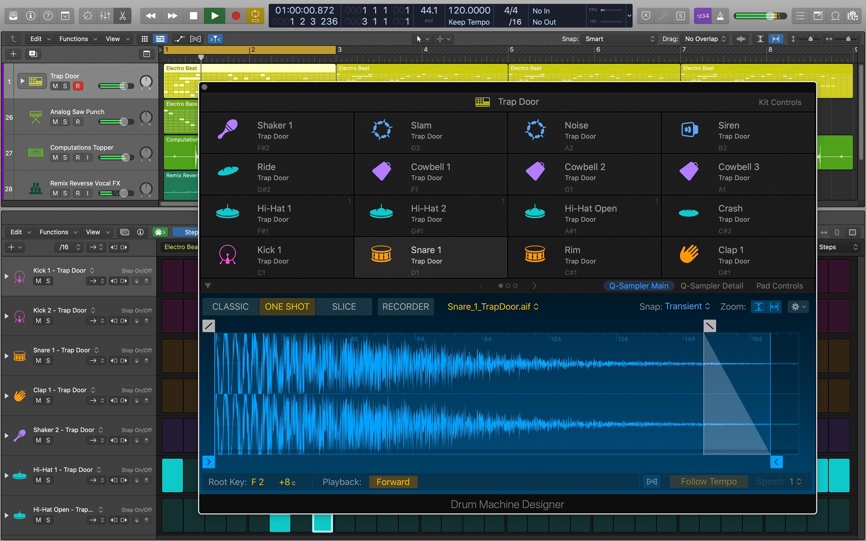 Screenshot do app Logic Pro X