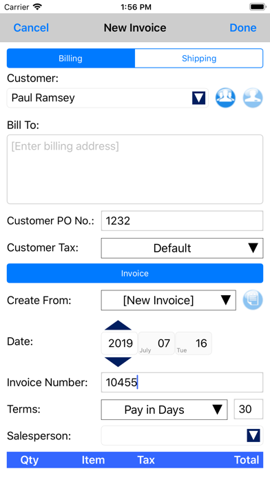 Express Invoice InvoicingScreenshot of 3