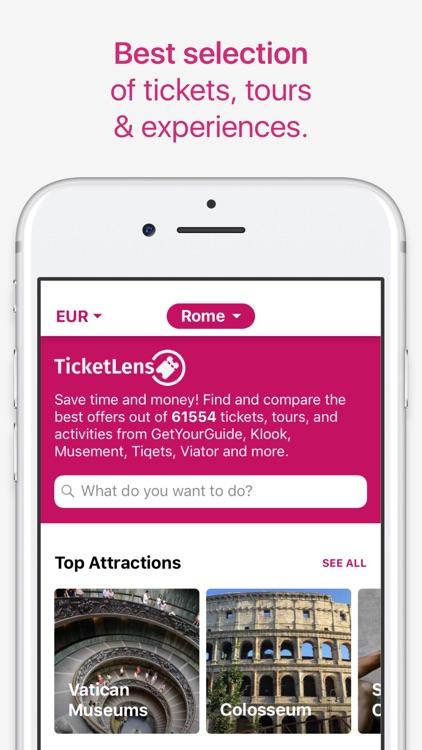TicketLens: Tours & Activities screenshot-0