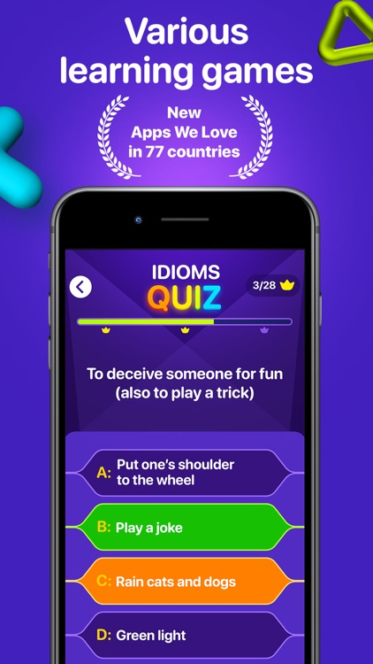 English idioms,vocabulary game