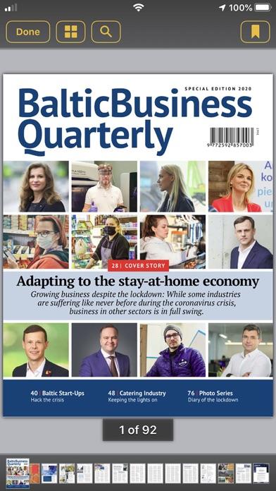 Baltic Business QuarterlyScreenshot of 3