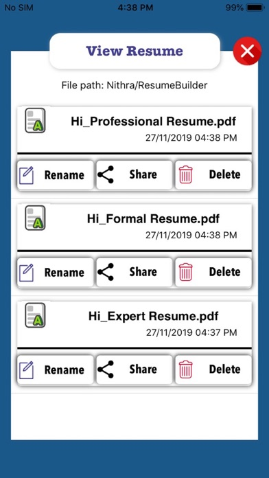 Nithra Resume Builder By Nithra On The Appstore