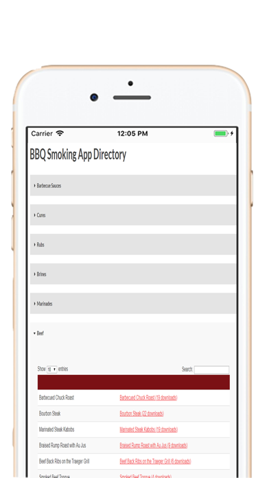 Cave Tools BBQ Recipe Journal screenshot